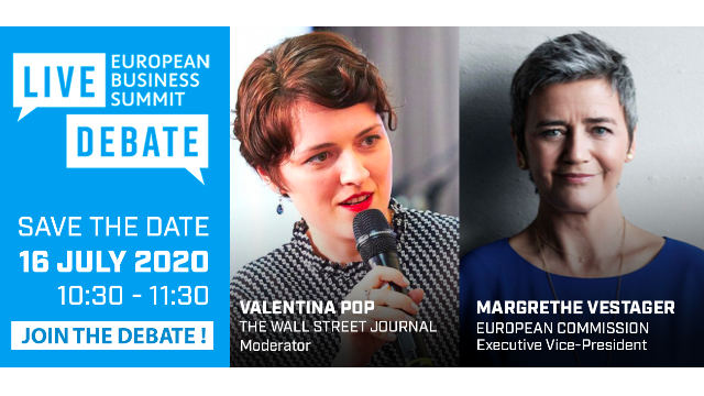 EBS Live Business Debate 16 July 2020 - Transforming Business for a Sustainable Europe